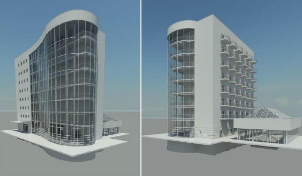 Hotel_Foamcore_Revit_Model_Rendering